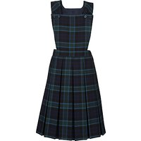 Girls School Tartan Tunic, Navy/Green