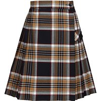 Tockington Manor School Girls Tartan Kilt, Brown/Multi