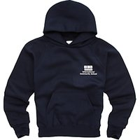 International Community School Unisex Hooded Sweatshirt, Navy