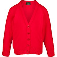 St Georges School, Hanover Square Girls Cardigan, Lollipop Red