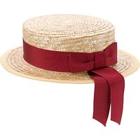 School Girls Summer Boater Hat