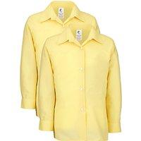 Girls School Long Sleeve Blouse, Pack of 2, Gold