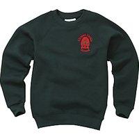 Chapel Fields Junior School Unisex Sweatshirt, Bottle Green