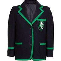 Lenzie Primary School Girls Blazer, Navy/Green