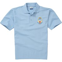 Lourdes Secondary School Unisex Polo Shirt, Sky Blue