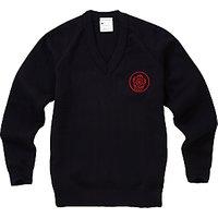 Queen Elizabeth's Girls' School Pullover, Navy