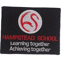 Hampstead School Unisex Badge, Black Multi