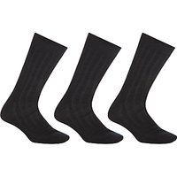 John Lewis Pure Mercerised Cotton Socks, Pack of 3