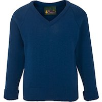 Sancton Wood School Unisex Pullover, Hunter Blue