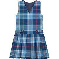 Girls Tartan School Tunic, Blue/Multi