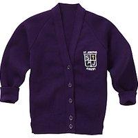 St Joseph The Worker Catholic Primary School Girls Cardigan, Purple