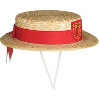 St John's College Girls' Summer Boater Hat