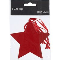 John Lewis Star Gift Tag, Pack of 5