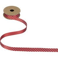 John Lewis Polka Dot Ribbon, Red / White