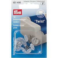 Prym Loose Cover Twist Pins, Pack Of 10