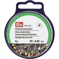 Prym Straight Glass-Headed Pins, 0.60 x 30 mm, 9G Tub
