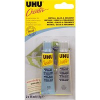 UHU Creativ Craft Glue, Metal/Glass/Ceramic, 2x15ml