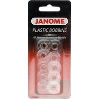 Janome Plastic Bobbins, Pack of 10