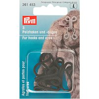 Prym Faux Fur Hook & Eye, Black