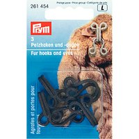 Prym Faux Fur Hook & Eye, Brown