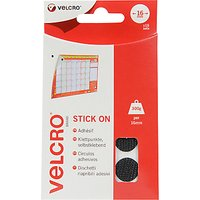 VELCRO Brand Stick-On Coin Fasteners, Pack of 16