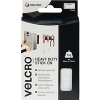 VELCRO Brand Heavy Duty Stick On Strips, White
