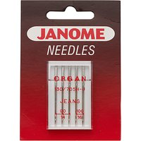 Janome Denim Needles, Pack of 5