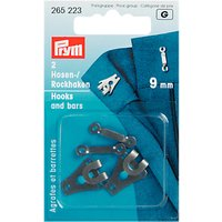Prym Trouser Small Hook and Bar, 9mm, Black