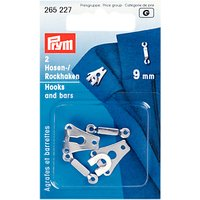 Prym Trouser Small Hook and Bar, 9mm, White