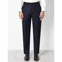 John Lewis and Partners Regular Fit Birdseye Suit Trousers, Navy