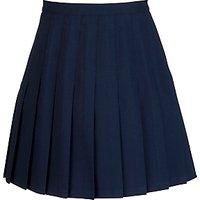 School Girls Knife Pleat Skirt, Navy