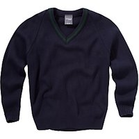 Copthall School Girls Trimmed Pullover, Navy/Green