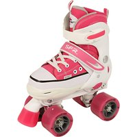 SFR Miami Childrens Adjustable Quad Roller Skates, Pink