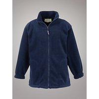 Plain Unisex School Fleece, Navy