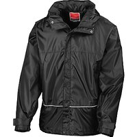 School Unisex Waterproof Jacket, Black