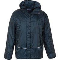 School Unisex Waterproof Jacket, Navy