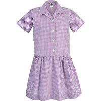 The Perse Pelican Nursery Girls Summer Dress, Purple/White