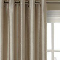 John Lewis and Partners Faux Silk Pair Blackout Lined Eyelet Curtains