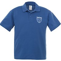 Holme Court School Unisex Polo Shirt, Royal Blue