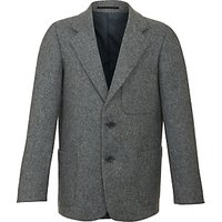 Boys' School Wool Blazer, Grey