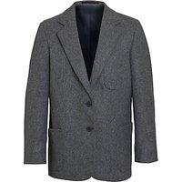Girls School Wool Blazer, Grey