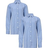 Boys Long Sleeve Shirt, Pack of 2, Royal Blue/White