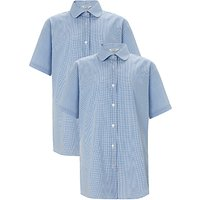 St Michaels Church of England Preparatory School Girls Blouse, Pack of 2, Blue/White