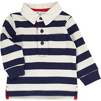 John Lewis Baby Rugby Top, Navy/White