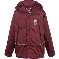 Great Ballard School Unisex Waterproof Jacket, Maroon