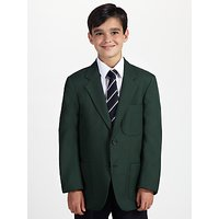 John Lewis Boys School Eco Blazer, Bottle Green