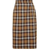 St Joseph's College Girls' Tartan Skirt, Brown/Multi