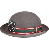 Forest Park Preparatory School Girls Felt Hat, Grey/Green