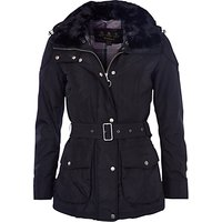 Barbour International Outlaw Faux Fur Collar Jacket, Black