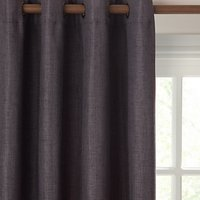 John Lewis Pair Textured Weave Lined Eyelet Curtains